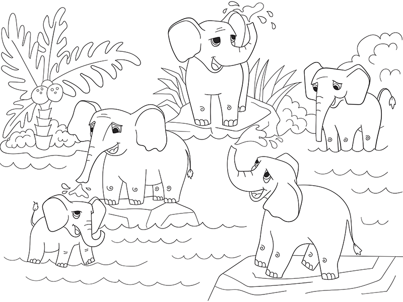 Pin By Tyton Media On Images Ecriture Coloring Pages Elephant Family Free Coloring Pages