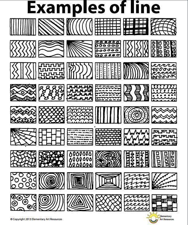 Verschiedene Linien Zeichnen Art Handouts