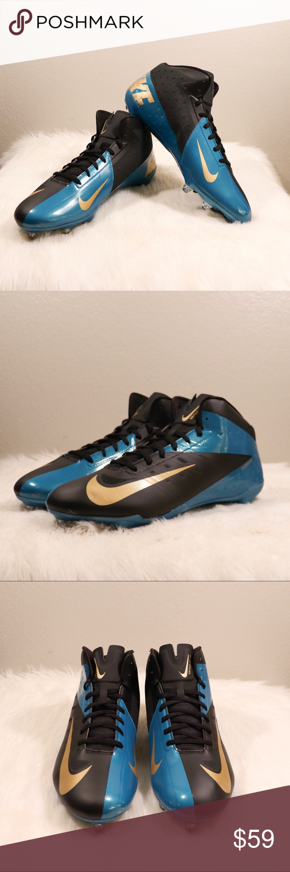 88508168d6d1 Nike Football Cleats - Jacksonville Jaguars Nike Vapor Elite Hyperfuse Football  Cleat Shoe Jacksonville Jaguars Size: 15 - Men's Color: Black /Teal/ Gold  ...