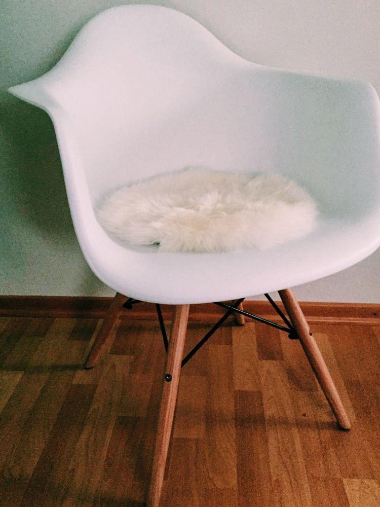 Premium Fellkissen Sitzkissen für Eames Stühle DAW DSW