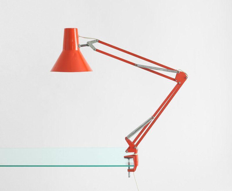 Vintage Orange Task Lamp #Etsy #JonathanAdler #GetChicSweepstakes