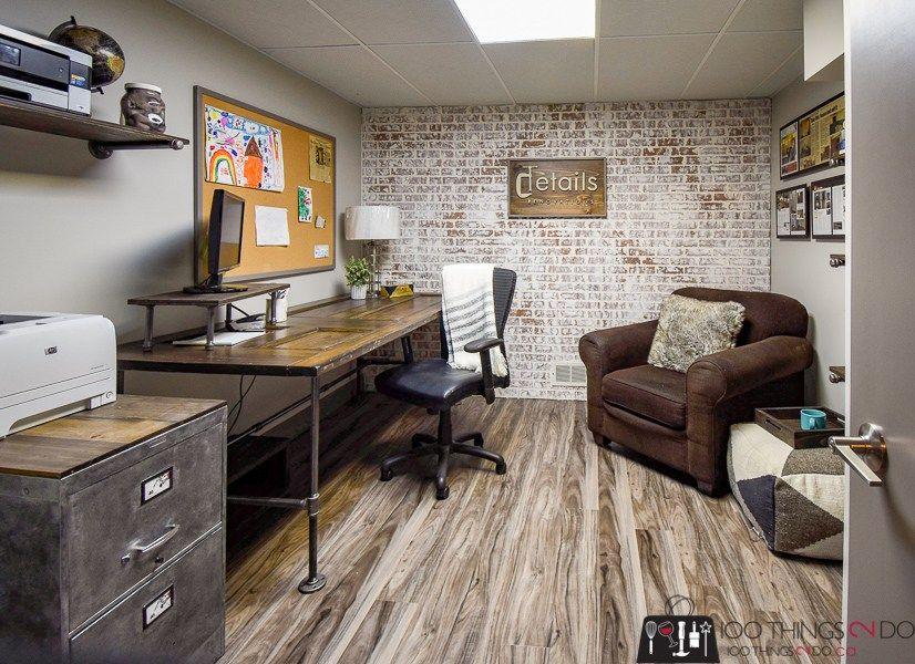Rustic Industrial Office One Room Challenge Fall 2018 Week 6