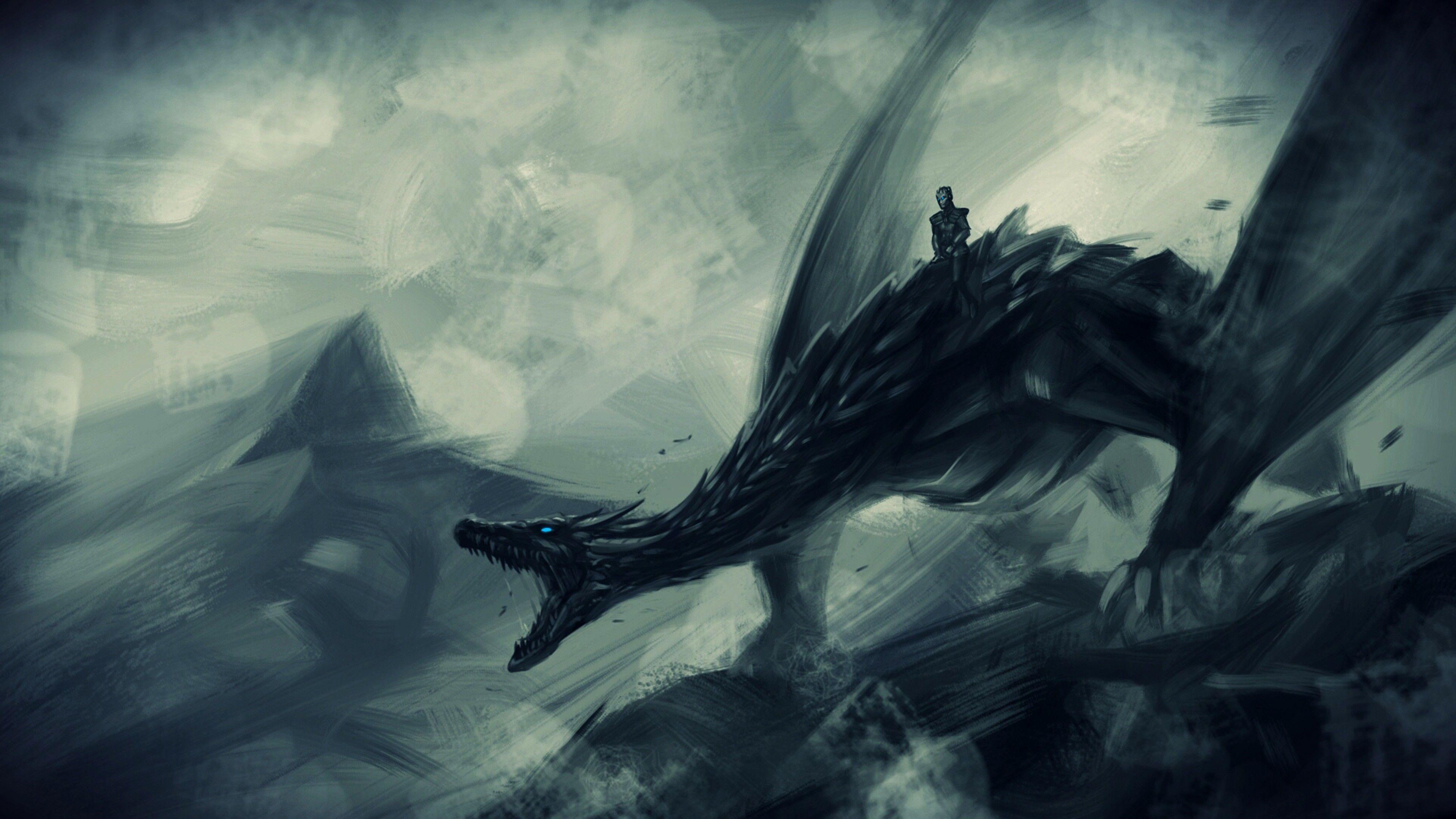 Got Wallpaper 4k Pc Ideas 4k In 2020 Ice Dragon Game Of Thrones Game Of Thrones Dragons Dragon Games
