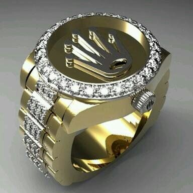 Rolex Ring  Male Fashion  Rings Gents ring Jewelry