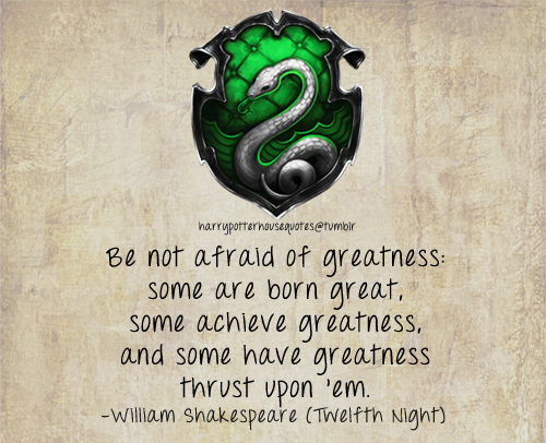 Harry Potter House Quotes Slytherin Harry Potter Houses Slytherin Quotes