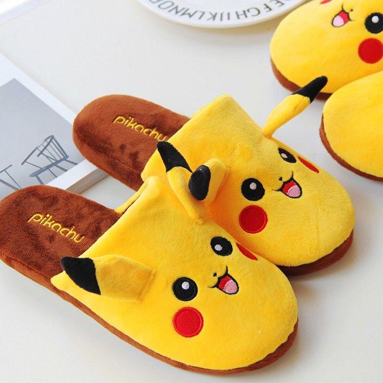 EU36-42 Cartoon Pokemon Slipper Pokemon Eevee Slippers Cute Plush Doll Slippers As Children Best Gifts Retail plush toys