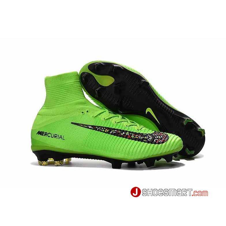 new york 4beb3 d9fef 新作 Nike Mercurial Superfly V FG - 緑黑花柄 ナイキ マーキュリアル スーパーフライ V FG メンズ  サッカースパイク グリーン 、ブラック