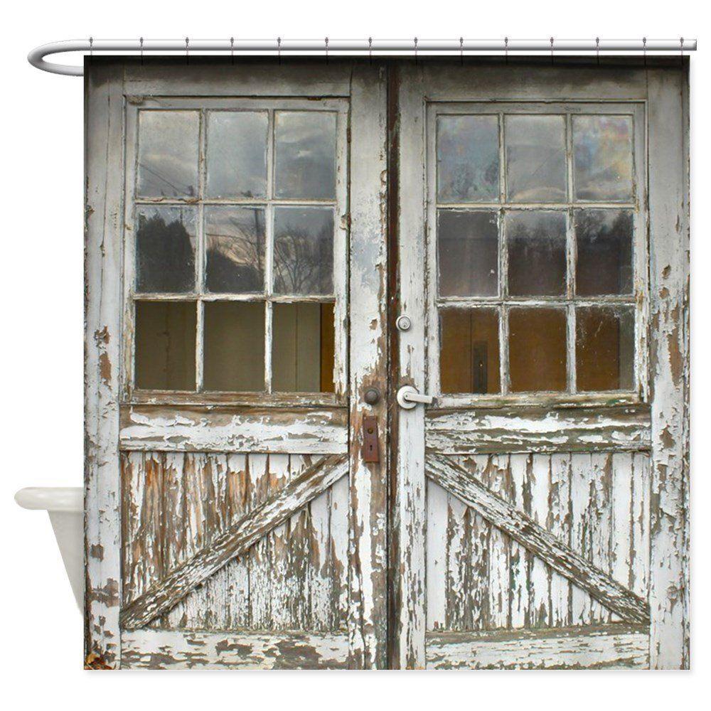 Amazon Com Cafepress Old Vintage Wood Doors Decorative Fabric Shower Curtain Home Kitchen Vintage Shower Curtains Wood Doors Cheap Shower Curtains