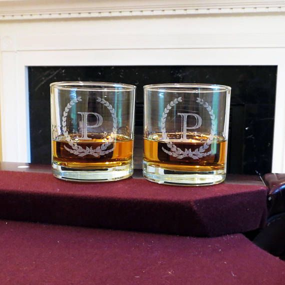 Personalized Whiskey Glass Groomsman Gift Wedding Gift Housewarming
