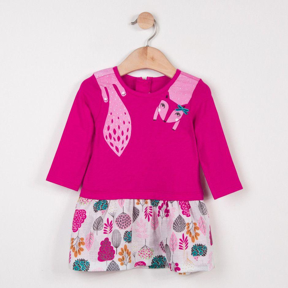 64758cddbfb78 Robe bimatière jersey et twill motif floral Catimini | vêtements ...