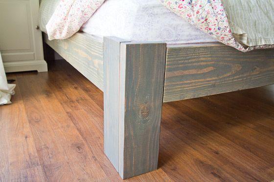 DIY wood bedframe {www.somethingisdone.com} | future home ideas ...