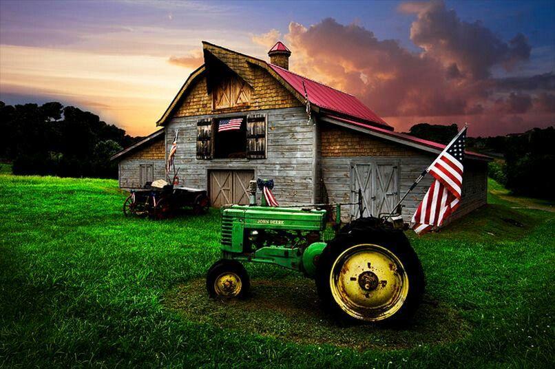 Old Barn And John Deere Love Old Barns Pinterest Barn