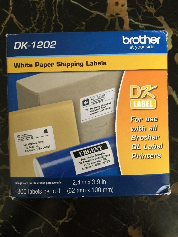 Brother DK1202 Shipping Labels 2 4 x 3 9 300 Roll