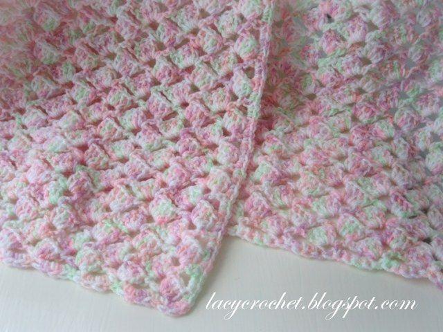 Lacy Crochet: Manta del bebé del verano en abigarrado Hilados ...