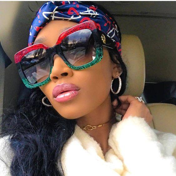 4e582782c6775 2018 Oversized Shades Luxury Brand Design Women s Sunglasses ...