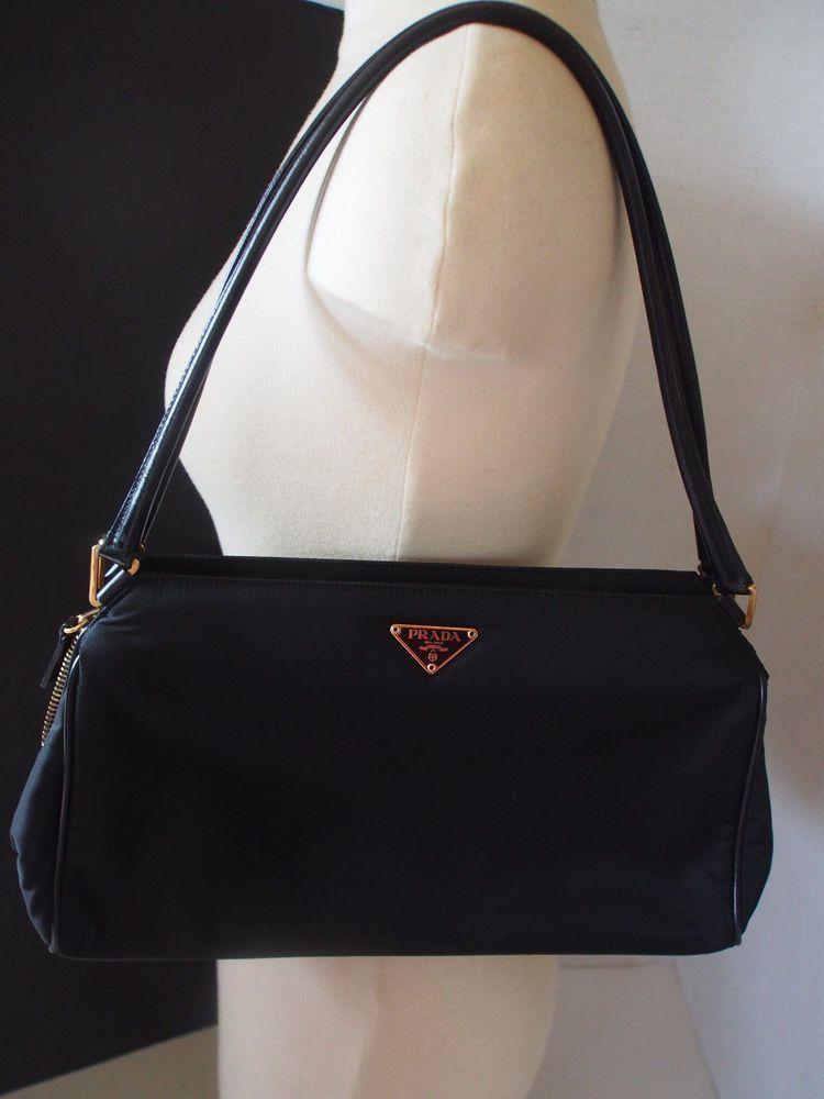 100 Prada Black Leather Nylon Hobo Semitracolla Tessuto Doctor Handbag Ebay Satchelhandbagsaffordable Leatherhandbagscrossbody