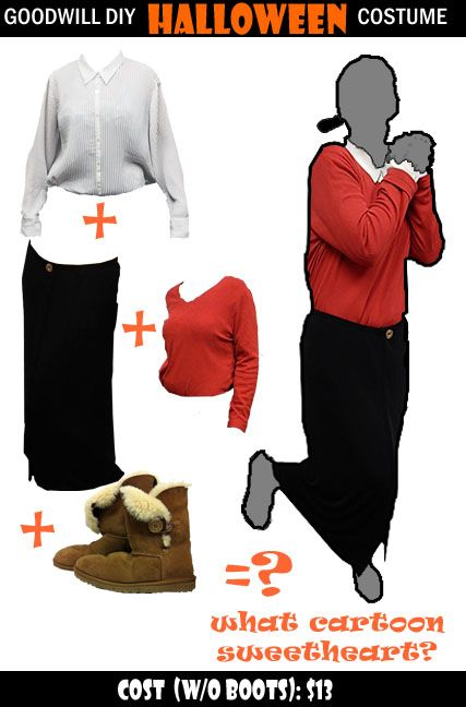 Costume idea from @goodwilltulsa Thrifty Ideas DIY Halloween - simple halloween costumes ideas