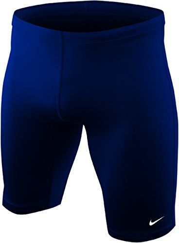 dad91e1413f5a Nike Mens Core Solids Jammer Swimsuit Midnight Navy Performance Swimwear Sz  34 -- Click image to review more details.