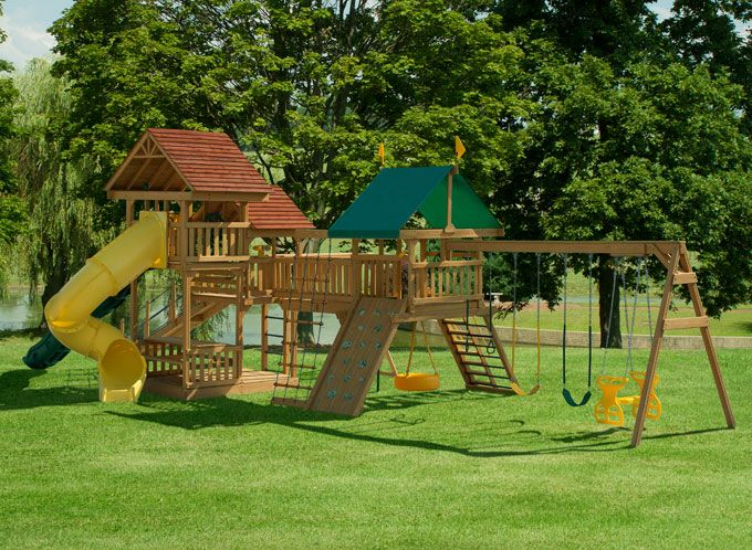 Wooden Playground Sets | Play Mor, 855 Elation Station ...