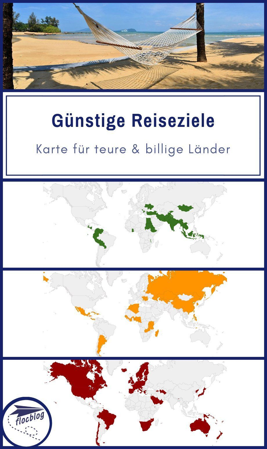 Mit günstigen Reisezielen können Reisende viel Geld sparen. Hier findest du eine Karte für teure und billige Länder im Jahr 2018. #Reiseziele #Reiseländer #Urlaubsziele #Budget #Reisebudget #Reisekasse #Kosten #billig #günstig #Länder #Weltreise #Backpacking #Reise #Rucksackreise #Reisetipps #Spartipps