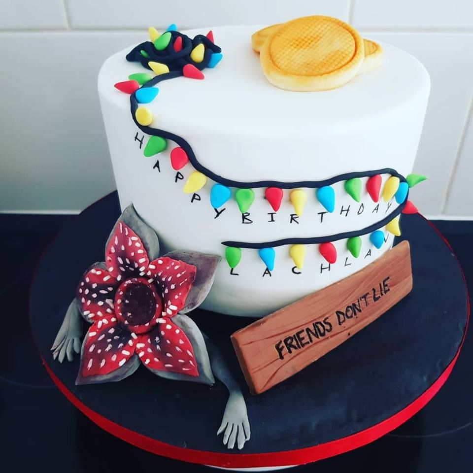 Stranger Things Cake With Images 20 Birthday Cake 12th