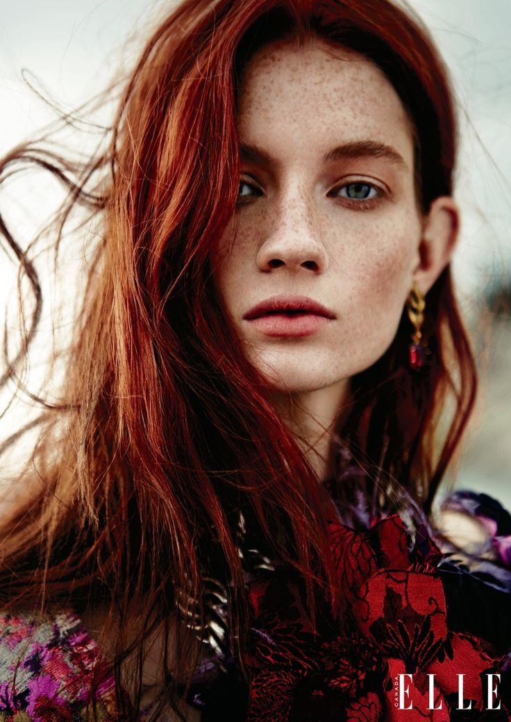 Haute-Vanity | Rote haare, Blondine mit blauen augen