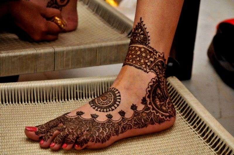 Bridal Mehndi On Foot : Feet mehndi designs for bridal design