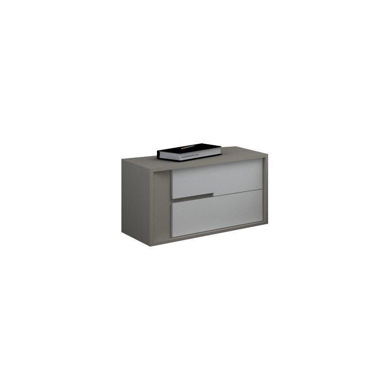 Esoteric style nightstands combine grey and white color