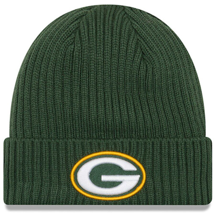 Men S Green Bay Packers New Era Green Nfl Core Classic Cuffed Knit Hat 26 99 With Images Knitted Hats Knit Beanie New Era