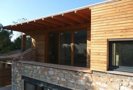 terrasse-extension-maison-ancienne-pierre Maison de village