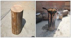 Making A Stove From A Single Log Might Just Be The Coolest Outdoor Hack Ever