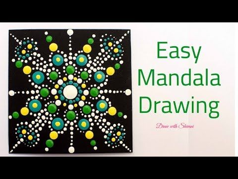 How To Draw Easy Dot Mandala Pattern Dot Mandala For Beginners