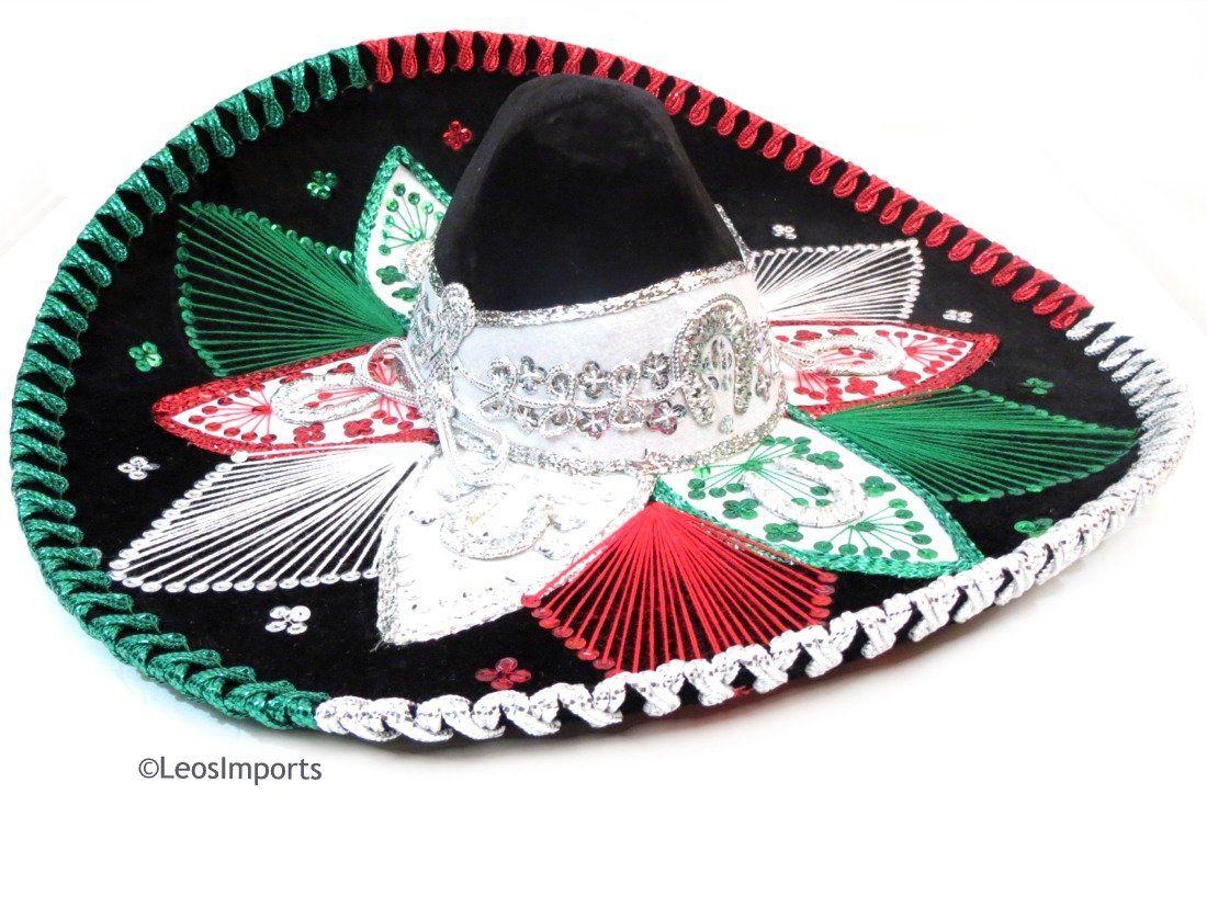 premium charro sombrero mariachi hat 3 colors mexican