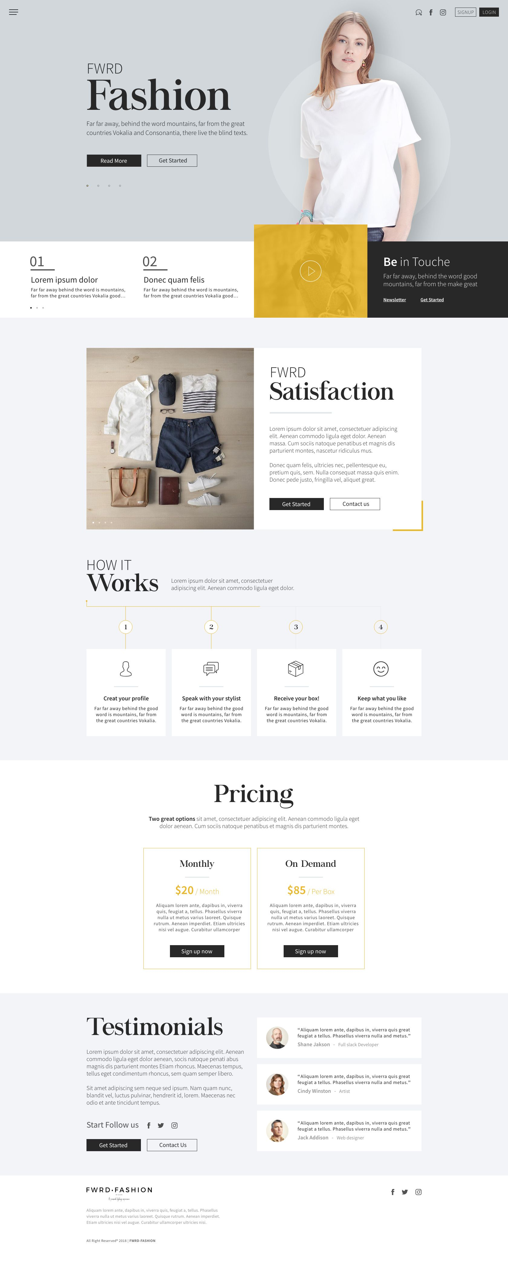 Fwrd Fashion Home Page Web Design Plus Frontend Development With A Clean Lighten Yellow Style Designe Fashion Web Design Web Design Jobs Web Layout Design
