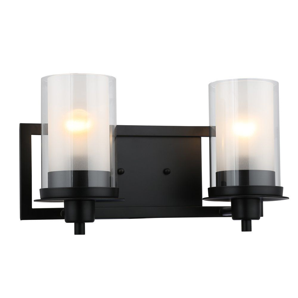Designers Impressions Juno Matte Black 2 Light Wall Sconce