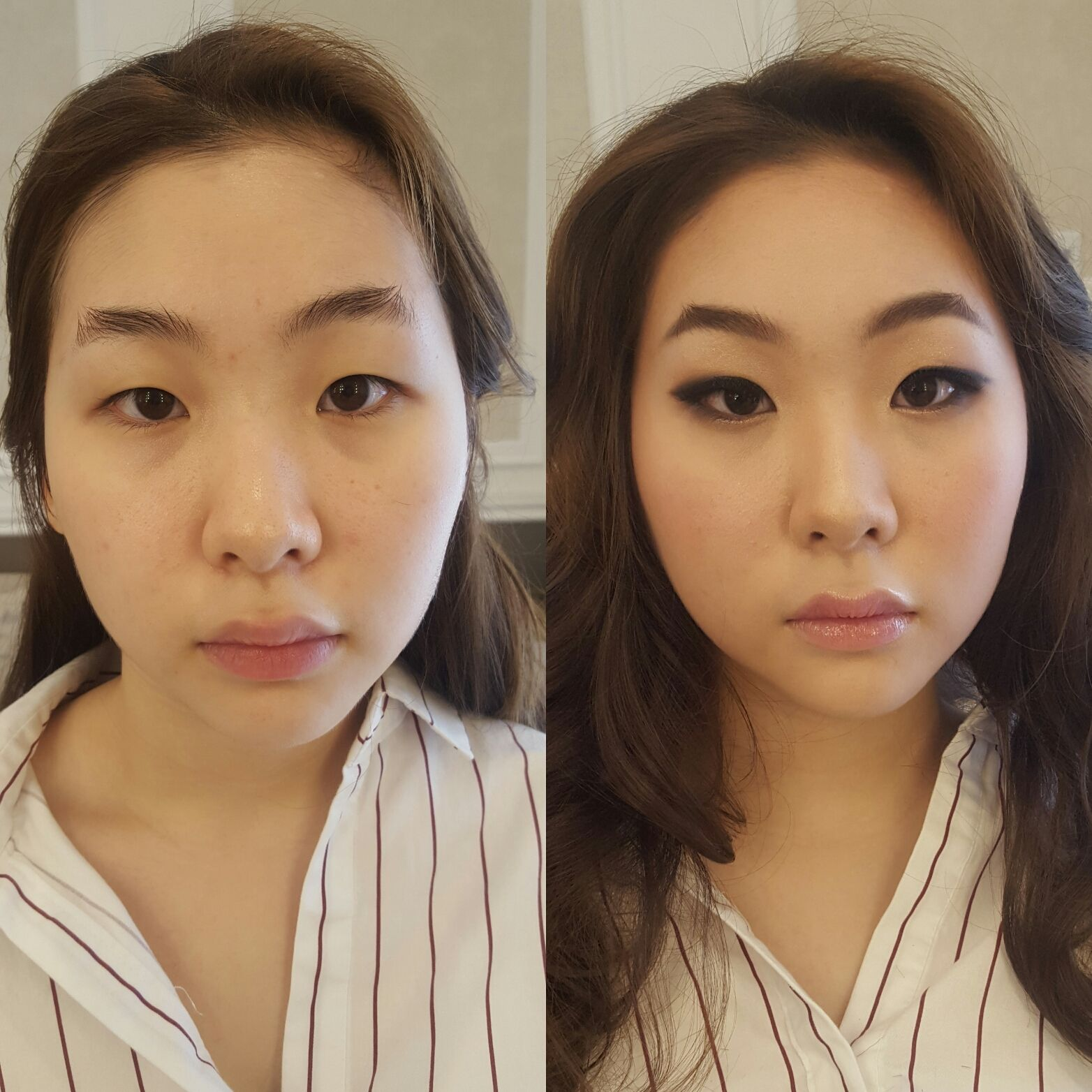 Korean style makeup and hair for prom by DS Veronica Cho