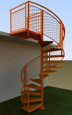 exterior-spiral | deck | Pinterest | Staircases, Spiral stair and ...