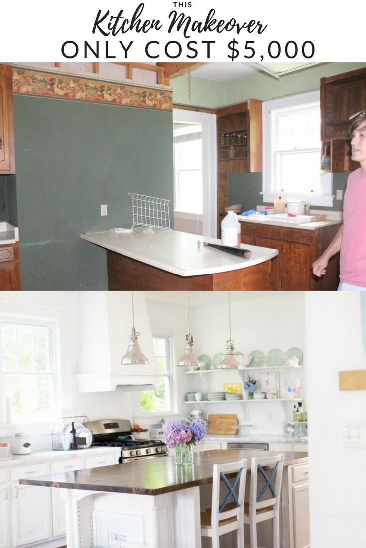 white dream kitchen on a 5k budget the source list amber tysl kitchen diy makeover on kitchen remodel under 5000 id=14129