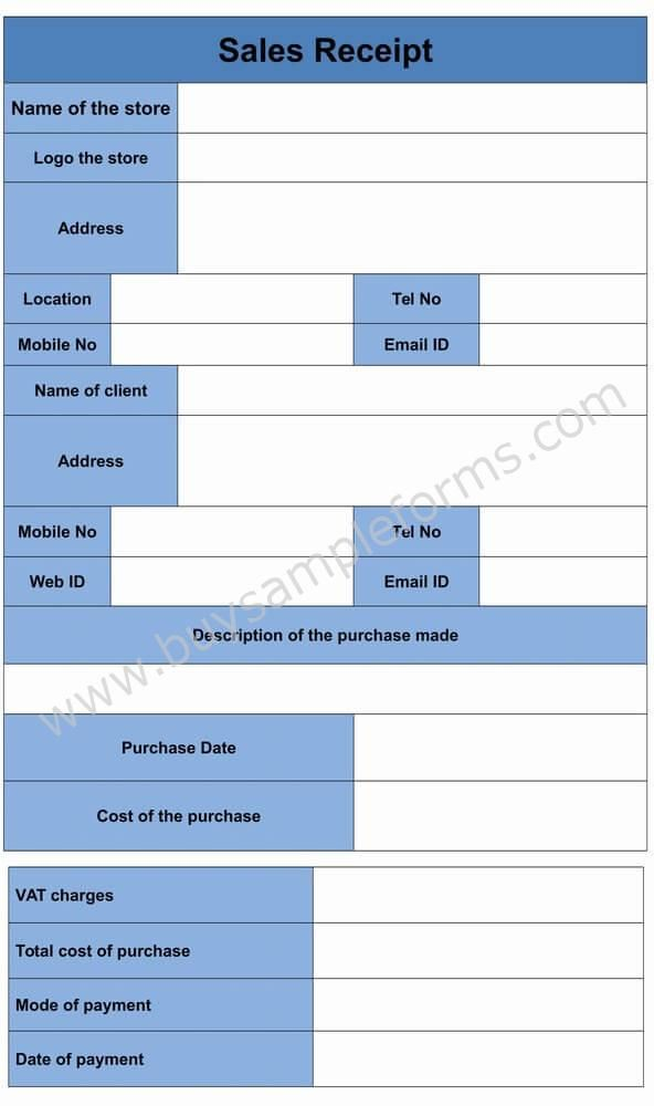 sales receipt form template receipt forms templates pinterest