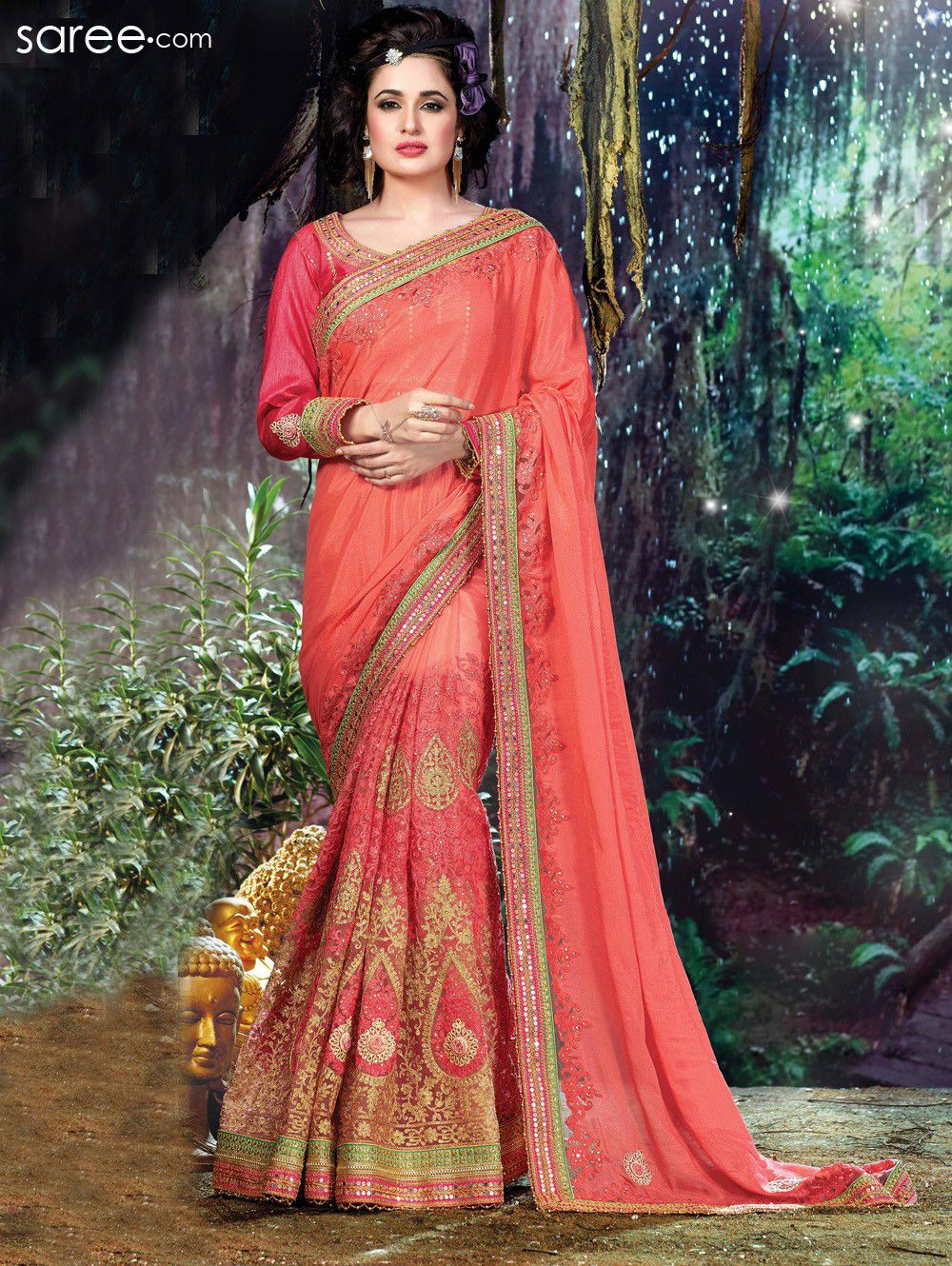 994df3d52944e2 10 Fancy Sarees that will let you shine and sizzle through the ...