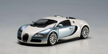 autoart: bugatti veyron super sport - dark blue w/ silver white