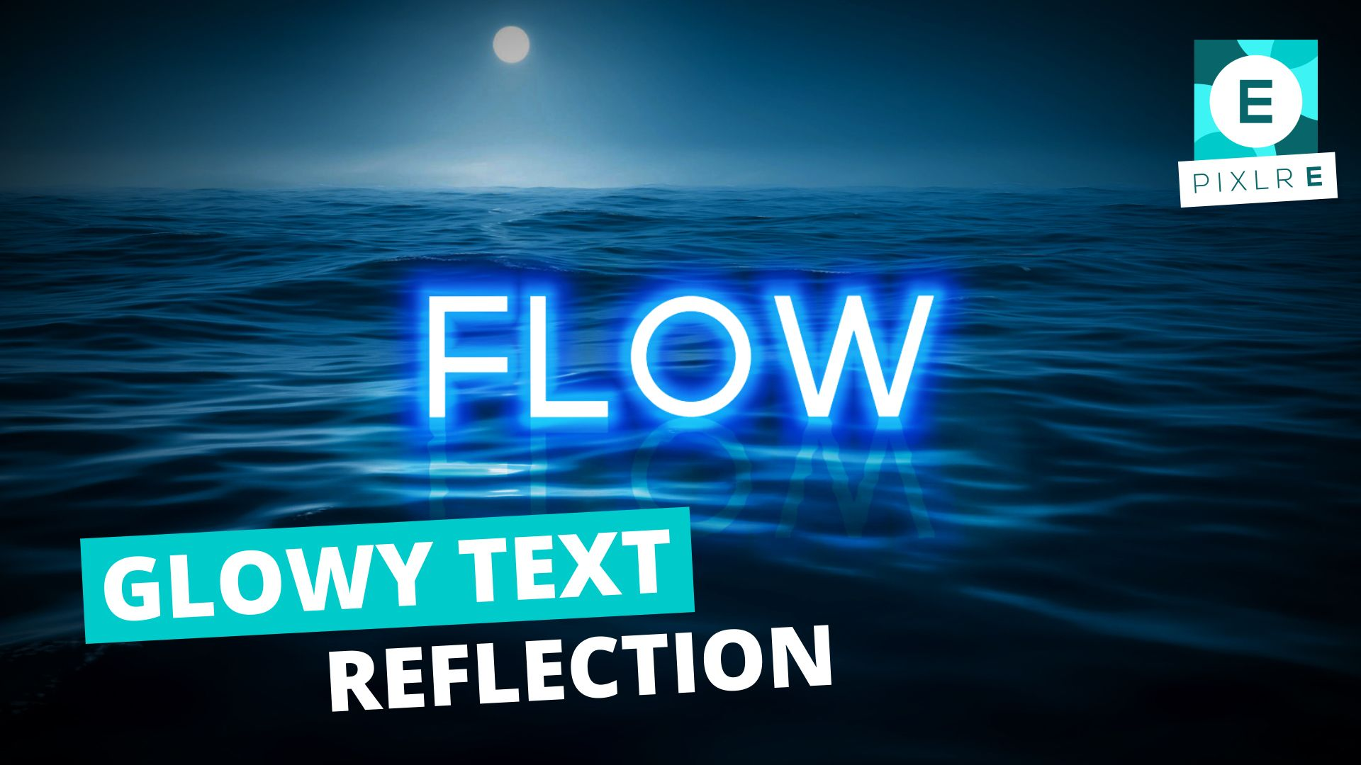 In this tutorial, we'll run you through how to recreate a glowing text reflection on water using Pixlr E.