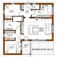 BungalowGrundriss 103 m² Grundriss bungalow, Haus