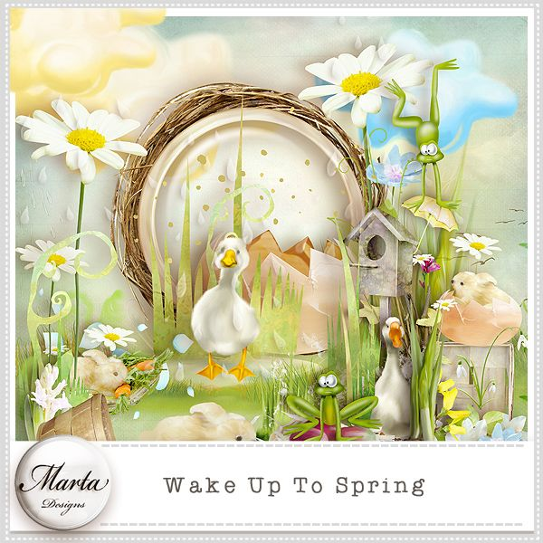 Wake Up To Spring :: ALL NEW :: Memory Scraps