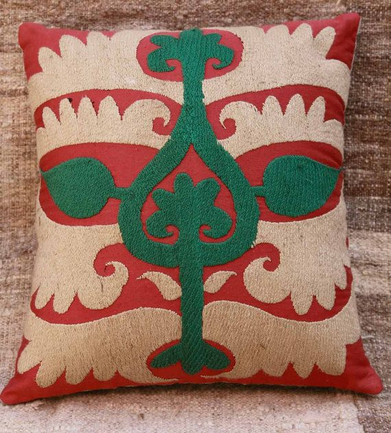 Vintage suzani pillow cover