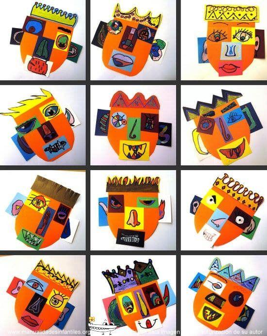 Caretas de carnaval con cartulinas crafts manualidades carnaval mascaras carnaval y carnaval - Mascaras para carnaval manualidades ...