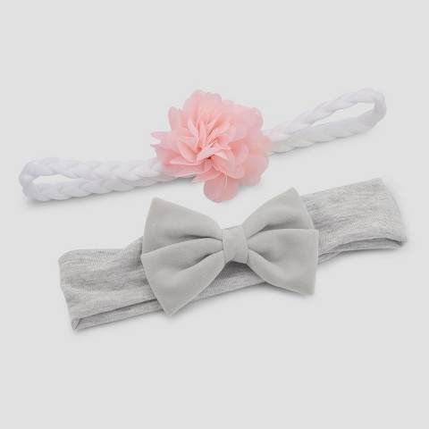 770843e08 Just One You made by carter Baby Girls' 2pk Velveteen Bow Headwrap - Just  One You? made by Gray #Infant#Age#Purpose