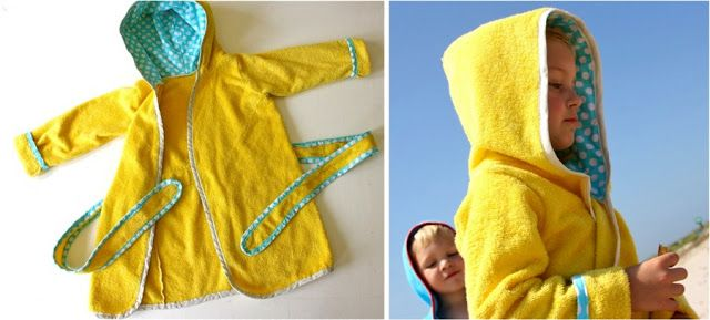 Beach Robe Pattern Saw These At The Pool And They Looked Awesome Fashion Pools Coverup Poolrobe Louar Diy Kidsrobe Kids