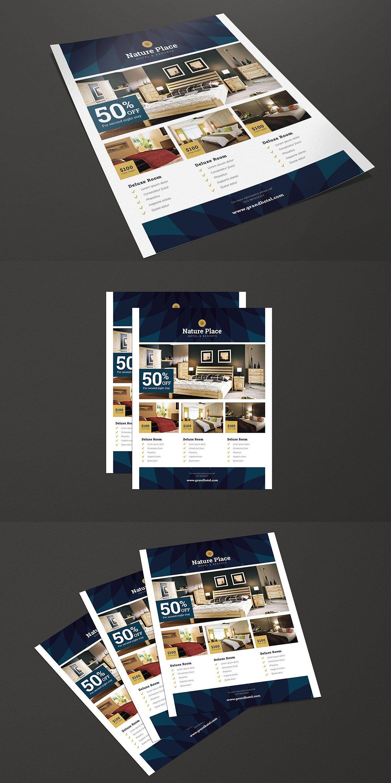 Modern Clean Hotel Flyer Template AI, PSD | briefing | Pinterest ...