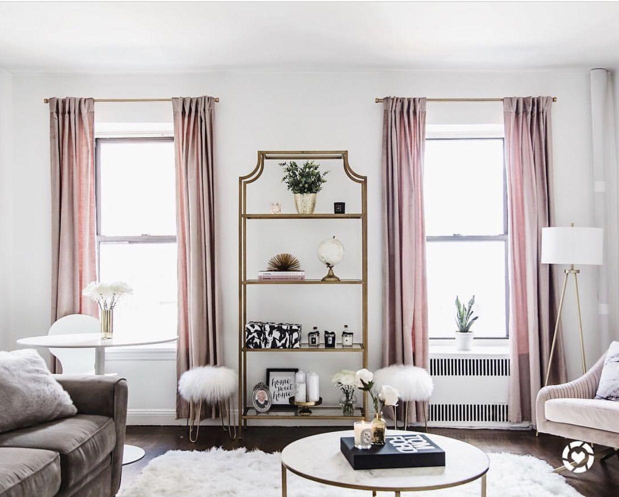 Living Room Design By @retroflame | West Elm Item: Dusty Blush Cotton  Luster Velvet